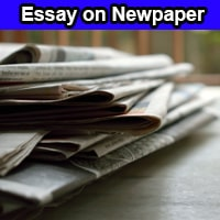 Essay on Newspaper in English