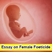 Essay on Female Foeticide in english