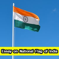 Essay on National Flag of India in English