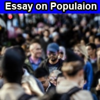 Essay on Population in English