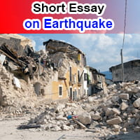 Short Essay on Earthquake in English
