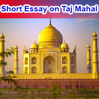 Short Essay on Taj Mahal in English