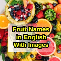 Fruit Names in English With Images