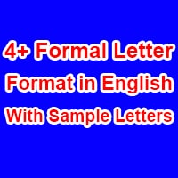 Formal Letter Format in English