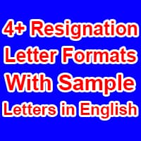 Resignation Letter Formats in English