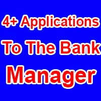 Sample Application To Bank Manager in English