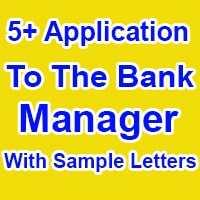Application To Bank Manager Format in English