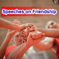 Speeches on Friendship
