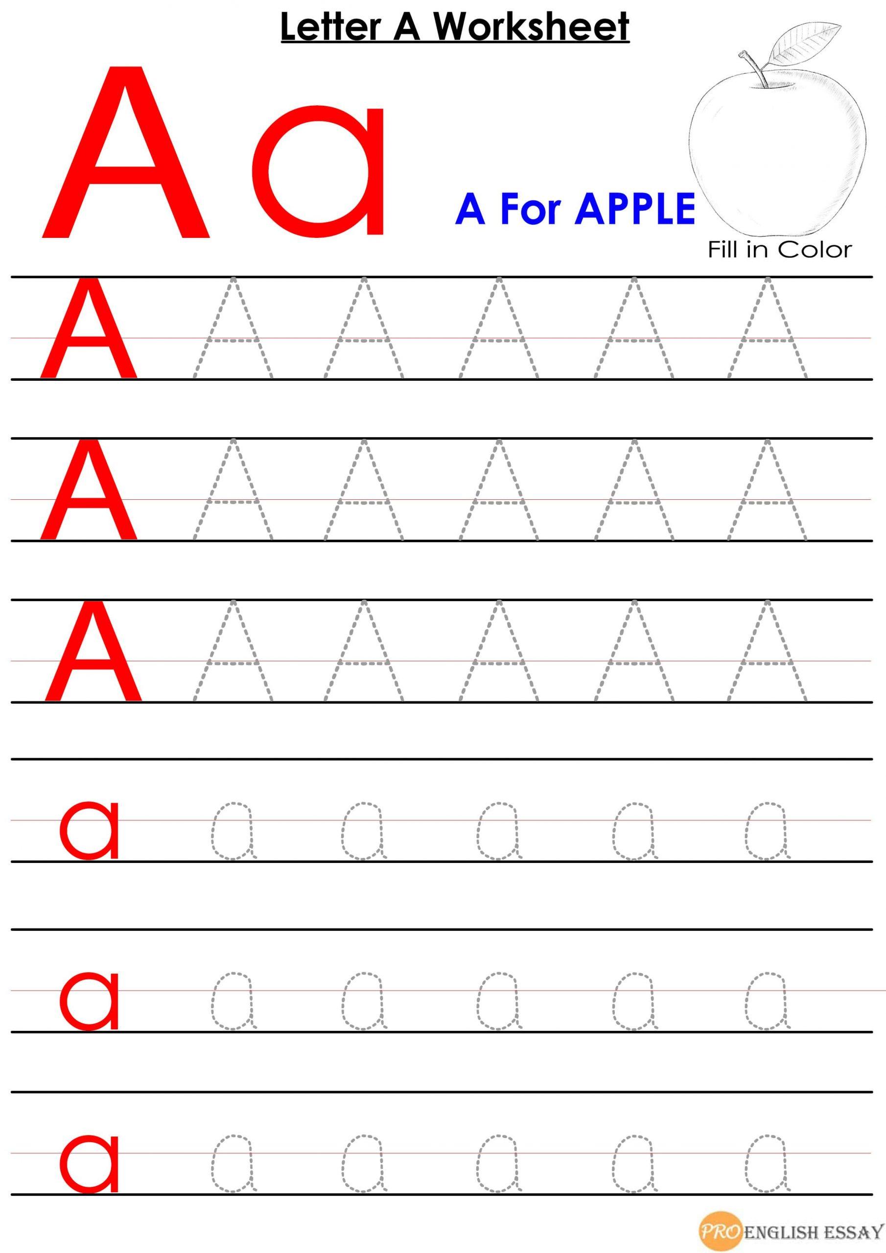 Printable Letter A Worksheet